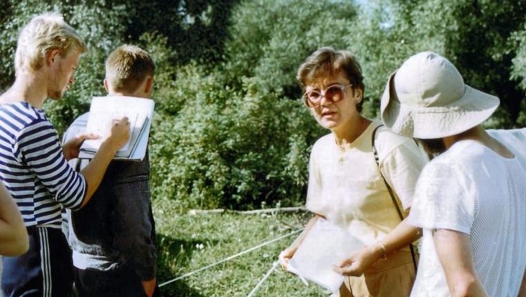 Историко-этнографическая экспедиция в Смоленский район, 1993 г. К.В. Григоричев и Т.К. Щеглова